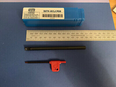 Boring Bar, 7mm  Dia S07K-SCLCR06 Takes CCMT0602 Inserts • 12£
