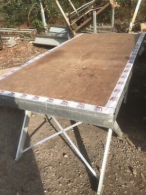 Aluminium Staging 2m X 1m Sections 14 Sections Heavy Duty Adjustable Heights • 925£