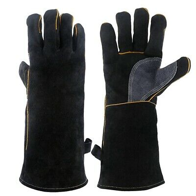 Extreme Heat&Fire Resistant Gloves Leather With Stitching,Mitts Perfect For S5Q2 • 15.24£