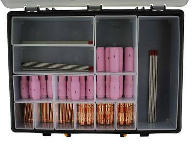 TIG Welding Torch Consumables Kit (DC) 66 Piece For WP17/18/26 With Case • 85.20£