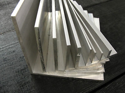 ALUMINIUM ANGLE X 500mm Lengths All Sizes From 1/2  To 4  Available Equal Angle • 13.81£