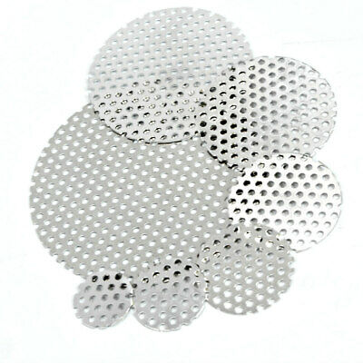 304 Stainless PERFORATED DISCS Vents Filters - 9 Sizes Sheet Metal 3mm Hole • 3.30£
