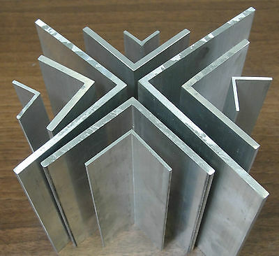 1 Mtr X Extruded Aluminium Equal Angle 1000mm Lengths Sizes From 1/2  To 4   • 5.13£