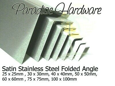 Folded Angle Corner Protector - Satin Stainless Steel 7 Sizes & 15 Lengths  • 19.80£