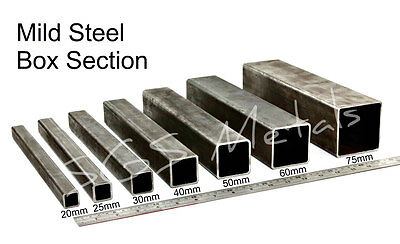 Mild Steel BOX SECTION Excellent Range Of Sizes & Lengths Available Square Pipe • 18.15£