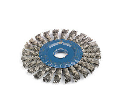 Stainless Steel Twisted Knot Radial Wire Brush Grinder Wheel. 115 Mm & 125 Mm. • 24.48£