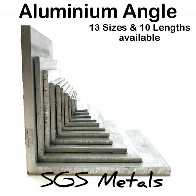 ALUMINIUM Equal L Extruded ANGLE 13 Sizes To Choose From & 10 Popular Lengths • 7.39£