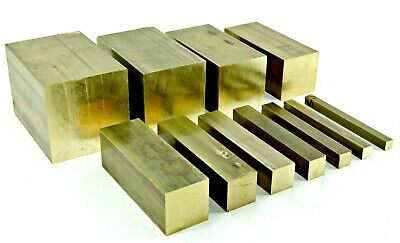 Solid Brass SQUARE Bar - 13 Sizes & 7 Different Lengths Available • 16.06£