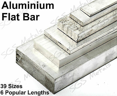 ALUMINIUM FLAT BAR 39 Sizes Available & 6 Lengths To Choose From Sheet Plate  • 4.32£