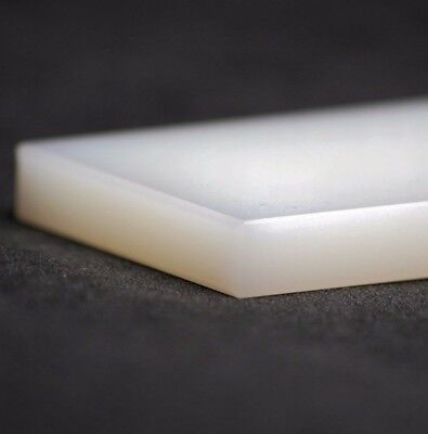 Nylon 6 Plastic Sheet Block Plate | All Sizes | Natural (White) • 21.38£