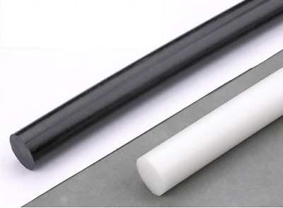 Acetal POM-C Plastic Round Rod Bar | 245mm Lengths | All Diameters • 17.72£