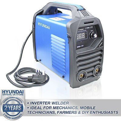 ⚫ Welder Inverter Stick Rod Arc MMA 120A 13 Amp Plug Welding Machine HYMMA120🔵 • 94.49£