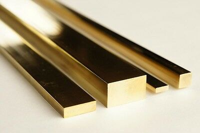 Brass Flat Bar  - All Sizes & Lengths Upto 1300mm Long - CHEAP • 17.09£