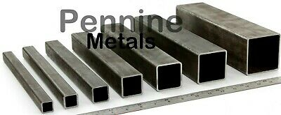 Mild Steel Or Galvanised Steel SQUARE Box Section Bandsaw Cut From UK Supplier • 12.65£