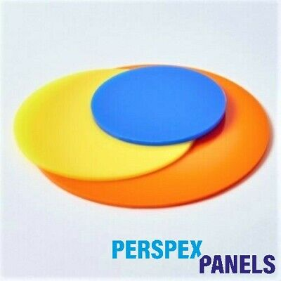 Coloured & Clear Round Acrylic Discs - 3mm - Cut To Sizes - Circles - Round • 14£