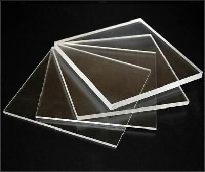 Clear Plastic Acrylic Perspex Sheet Custom Cut To Your Specs Polished Edges!! • 116.35£