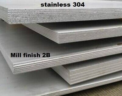 STAINLESS STEEL 304 SHEET/PLATE - 0.5mm Upto 4mm Thick -  Wide Range Of Sizes • 142.49£