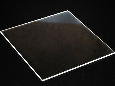 Clear  Acrylic Perspex Plastic Sheet Custom Cut To Your Specs Polished Edges!! • 18.50£
