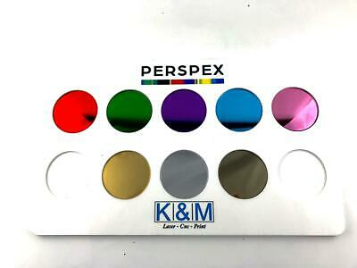 Circle Discs Coloured Mirror Acrylic Various Sizes K&M • 2.99£