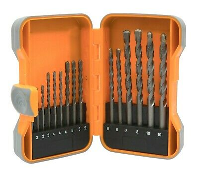 Brackit 15 Piece Masonry Drill Bit Set 3mm - 10mm In Plastic Storage Case • 6.99£