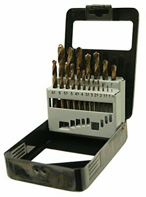 19pc HSS Metric Cobalt Drill Bit Set With Metal Storage Case • 39.99£