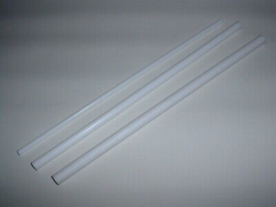 1 Ft Long White Ptfe Teflon Round Rod Bar High Temp Low Friction 6mm To 20mm Od • 17.99£