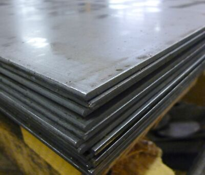STEEL SHEET/PLATE 4mm THICK - VARIOUS SIZES AVAILABLE • 21£