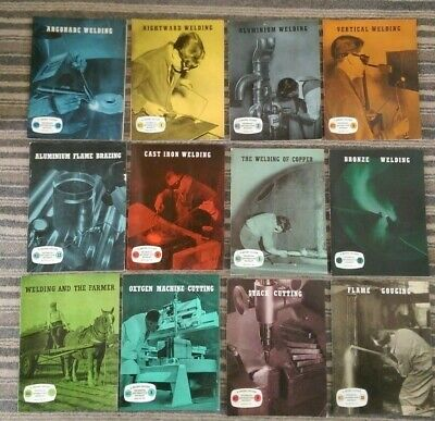 VINTAGE 1955/56 BRITISH OXYGEN TECHNICAL Welding BOOKLETS X 12  • 34.95£
