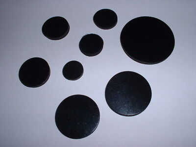 3mm Thick Multi Use Flat Round Epdm Rubber Disc Buffer Stop Damper All Diameters • 2.49£