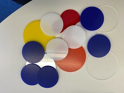 Perspex Acrylic Plastic Circles Disc Laser Cut 2-4mm, Packs Of 10, Many Colours • 69.90£