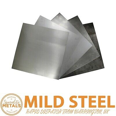 Bargain Budget New MILD STEEL SHEET METAL PLATE 0.5mm To 3mm Thickness UK Made   • 2.99£