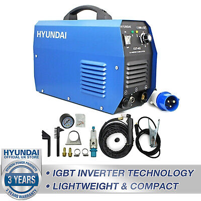 "🔵 Plasma Cutter Inverter Portable Cuts Up To 12mm / ½"" Steel 240V Hyundai 🔵 • 392.99£"