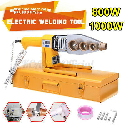 Electric Pipe Welding Machine Heating Tool Heads Set For PPR PB PE Plastic Tube • 44.27£