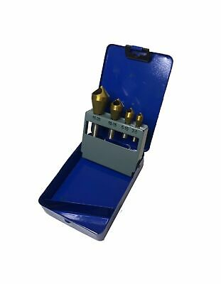 Rdgtools 4pc Countersink Tin Coated 2-20mm Zero Flute Chatterless • 28.50£