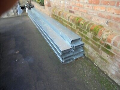 Galvaised Open Box Section Never Used   8inchx 2and Ahalf Inch  2mm Thick • 225£