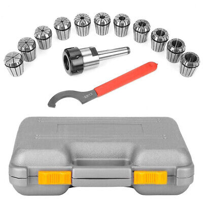 Er32 Collet Chuck With Er32 Collets Mt2 Shank Holder Wrench Complete Tool Set • 37.90£