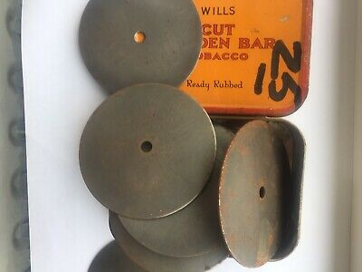 20 Steel Discs 75 Mm In Dia In Old Tin  • 2.50£