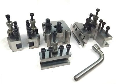 T37 Quick Change Tool Post Set+ 5 Holders-Myford & Lathe 90-115 Mm Center Height • 89.68£