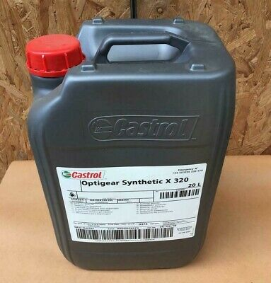 CASTROL OPTIGEAR SYNTHETIC X 320 Industrial Gear Oil - 20 Litre Container • 150£