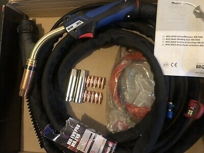Abicor Binzel. MB Evo Pro 501D. 5m Length. MiG/MAG Welding Torch. With Extras. • 210£