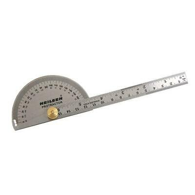 0-180 Degree Protractor Arm Stainless Steel 6  15cm Ruler Angle Finder Gauge • 3.99£