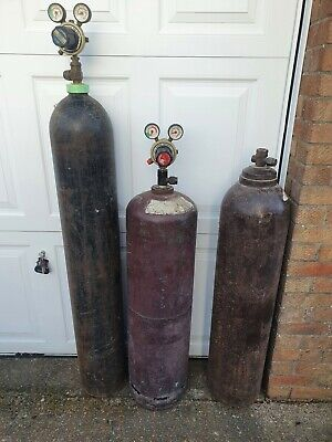 Oxy Acetalene Bottles With Gauges With Various Torches And Nozzles (see Photo) • 250£
