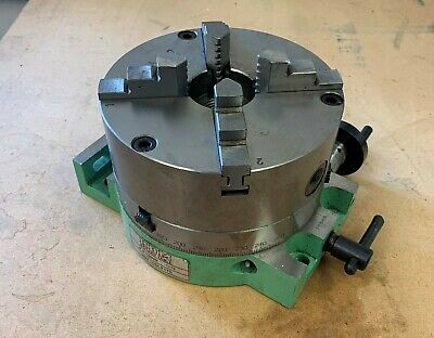 SHOP SOILED 6  / 150MM Rotary Table Slim Body + 150mm 4 Jaw SELF CENTERING CHUCK • 215£