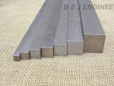 Bright Mild Steel Square Bar EN3B - Various Sizes - 50mm To 1000mm Long 080A15 • 4.70£