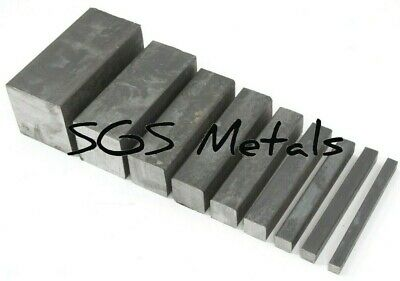 Mild Steel SOLID SQUARE BAR Excellent Range Of Sizes Available From UK Supplier • 20.77£