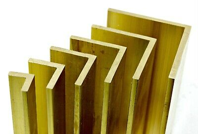 Solid BRASS Equal ANGLE - L Section - 6 Sizes & 7 Lengths Available • 8.31£