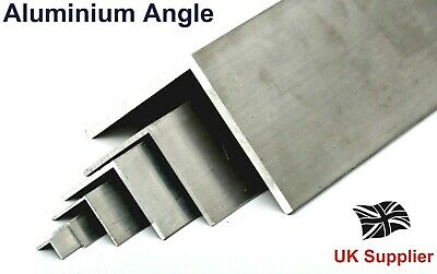 Extruded L Shaped Aluminium Equal ANGLE - 13 Sizes Available Bandsaw Cut  • 9.79£