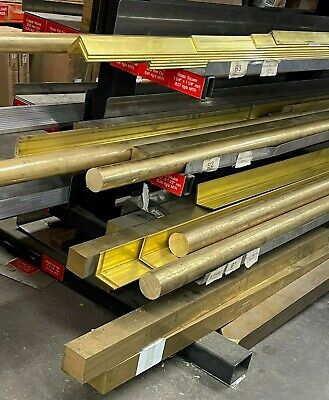 Solid BRASS FLAT BAR Strip Plate - 28 Different Sizes & 7 Lengths Available • 8.03£