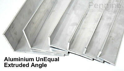 UNEQUAL Extruded Aluminium Angle Bandsaw Cut From UK Trade Metal Supplier  • 16.27£