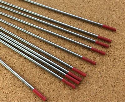2.4mm X 150mm Red Tungsten 2% Th Thoriated DC Tig Welding Electrode  • 3.99£